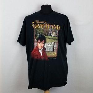 Welcome to Graceland Elvis Presley Shirt Sz XL